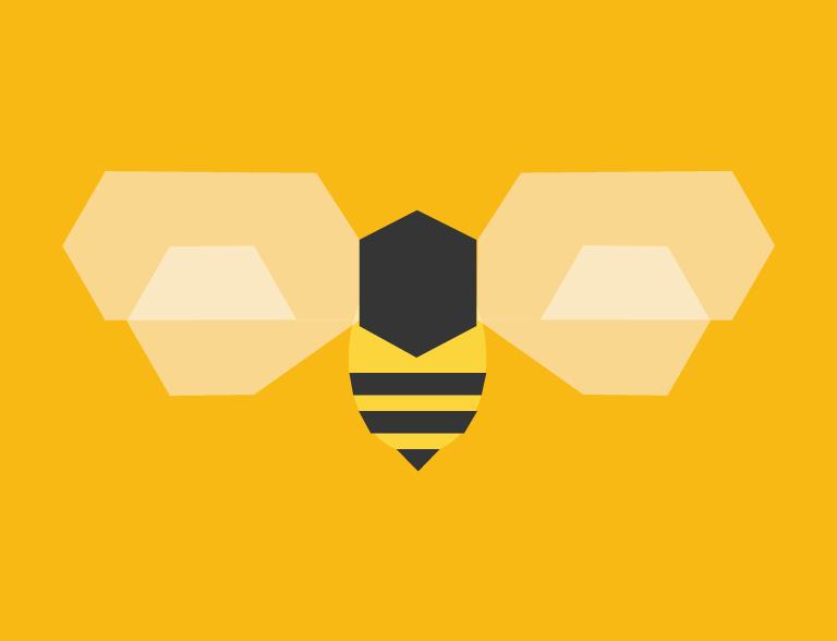 hexagonal bee
