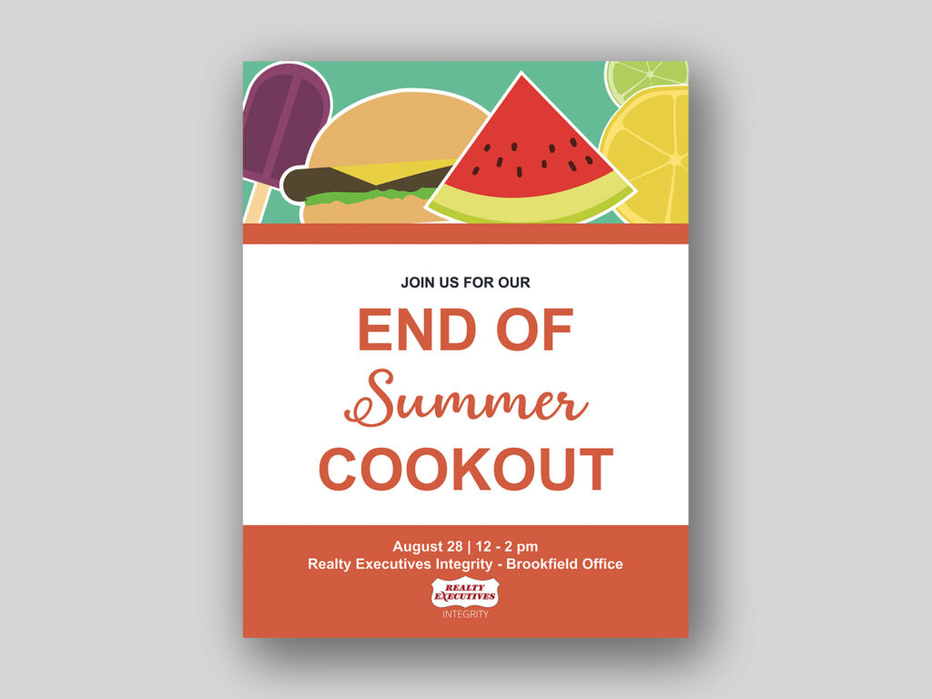 end of summer cookout flyer