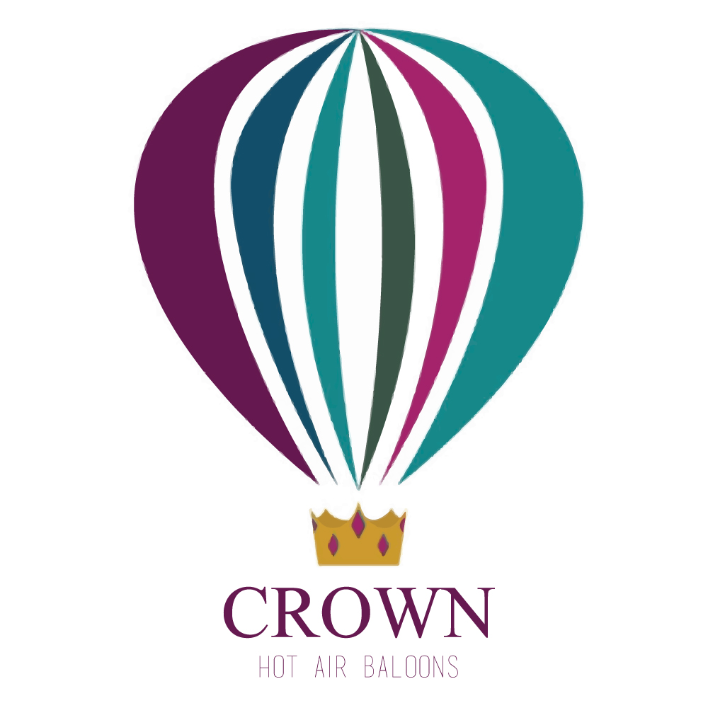 Crown Hot Air Balloon Logo