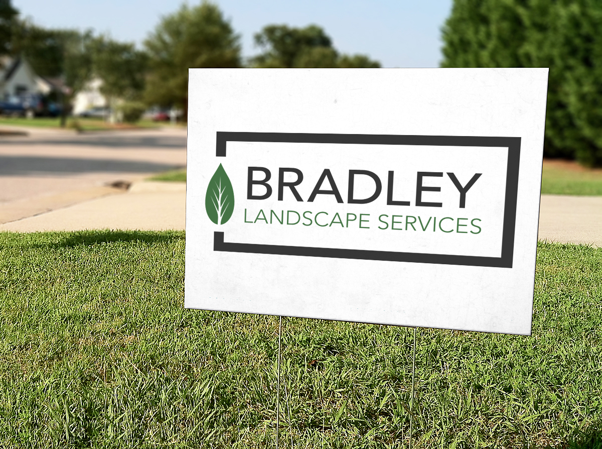 BLS, Bradley Landscape Services, by LE Designs, Lindsey Elizabeth Designs, graphic designer near me, logo design