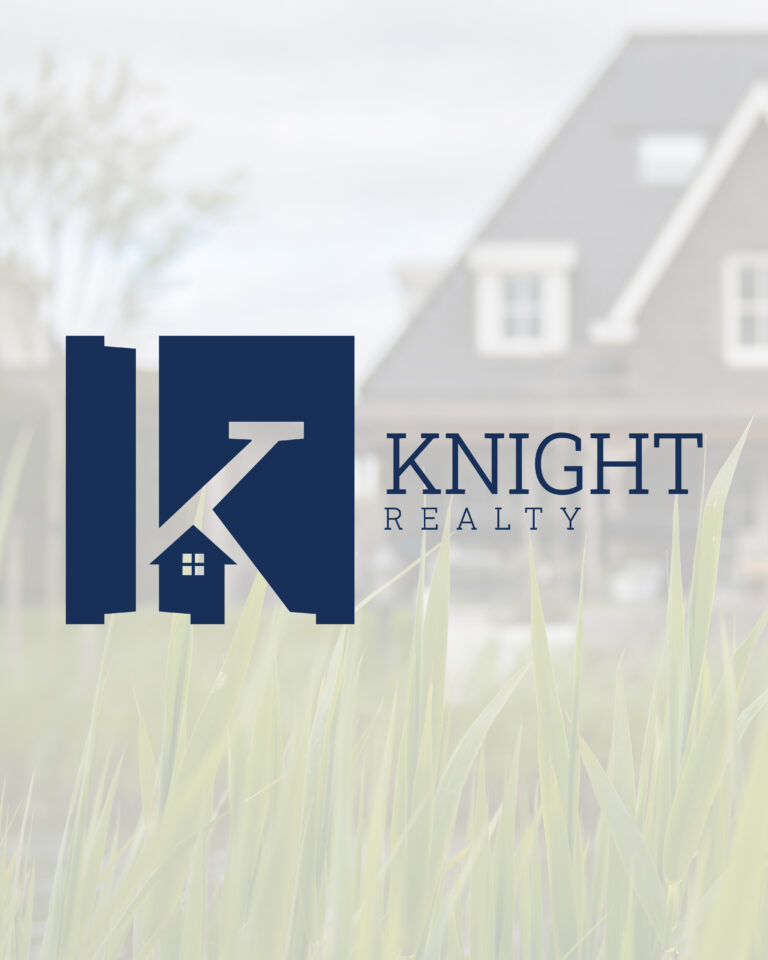 knight realty logo, milwaukee, hartland, lindsey elizabeth, le designs, logo, brand identity launch