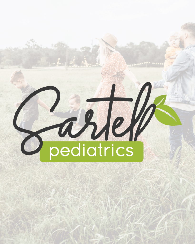 sartell pediatrics logo design showcase