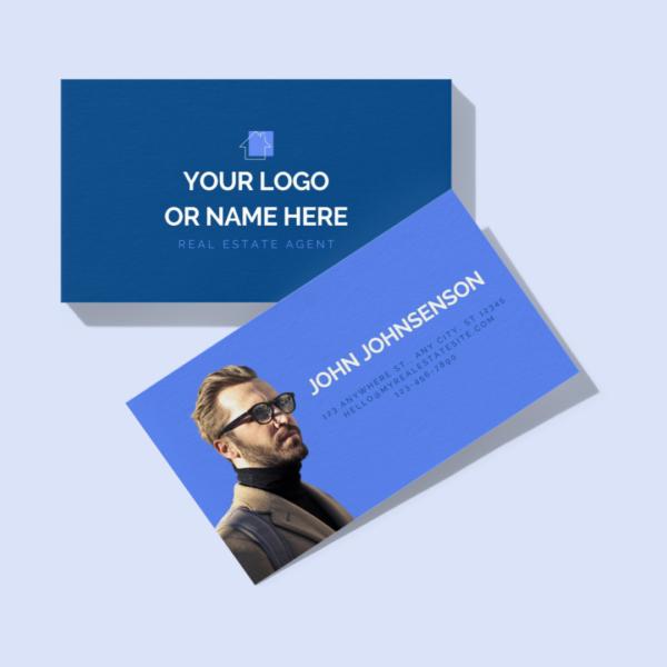 bold and blue business card design mockup artboard studio mockup template canva