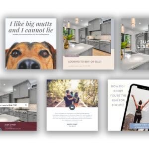 content bank for realtors real estate agents canva templates custom customize
