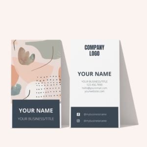 modern business card design template for small business owners