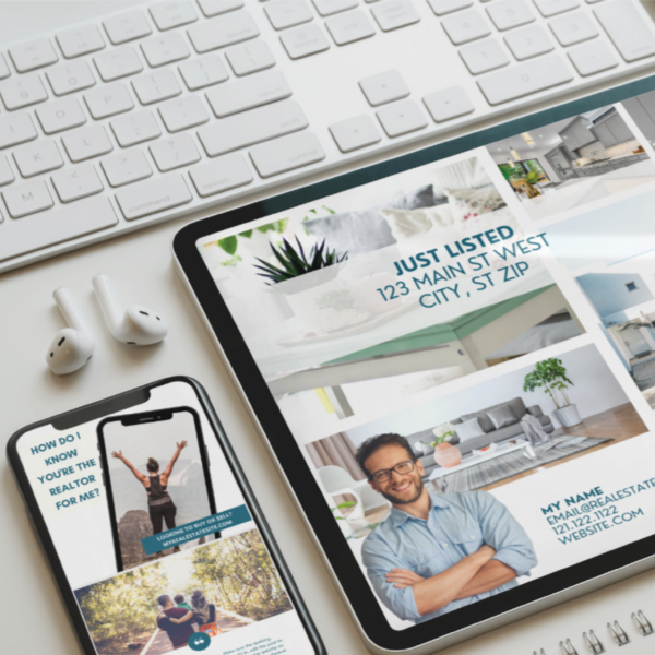six social media templates for realtors on canva design exclusive real estate agent social media marketing