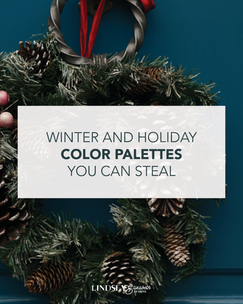 winter and holiday color palettes you can steal