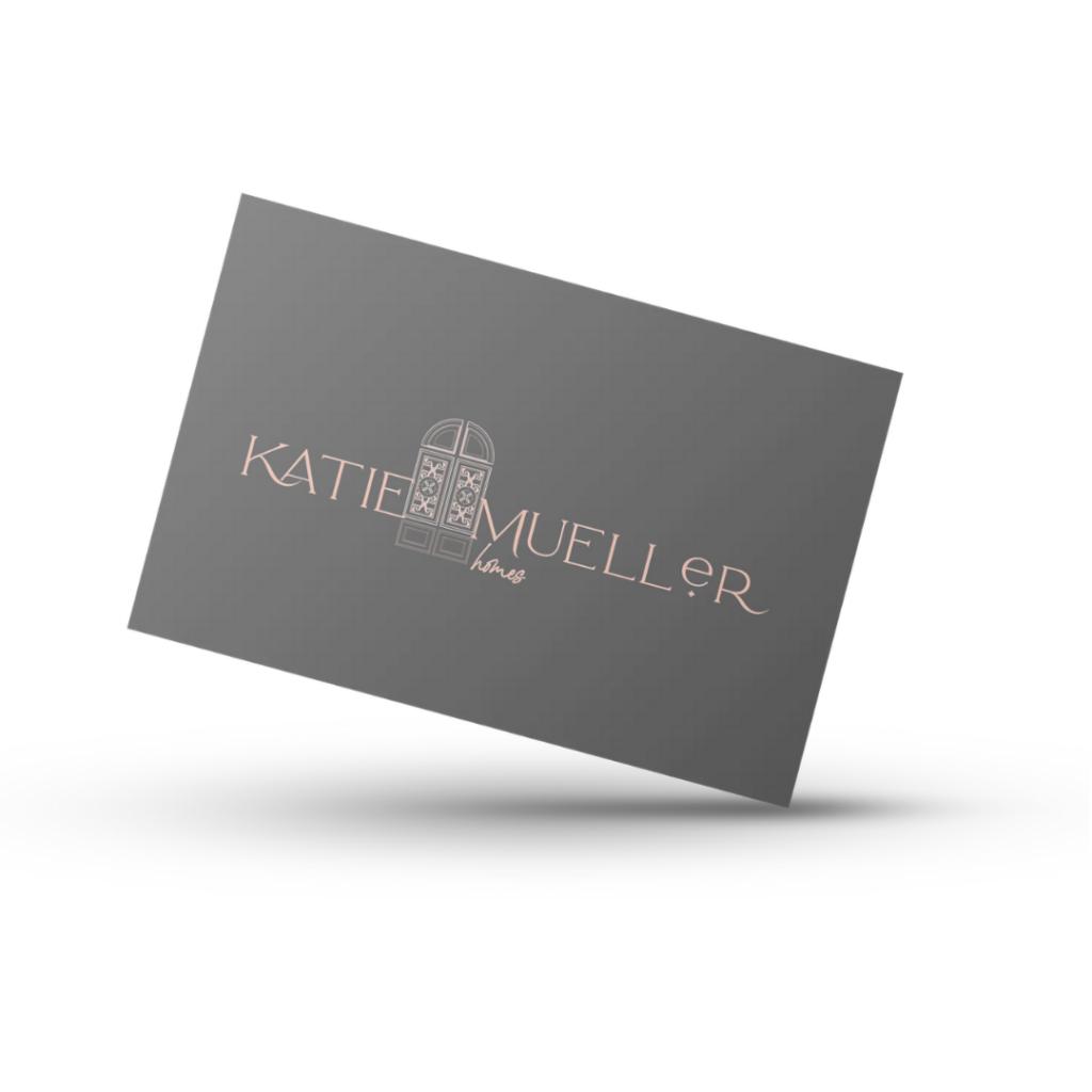 Branding Suite Katie Mueller Homes Business Card Mockup